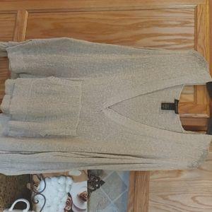 Tan Lane Bryant mesh long sleeve hoodie